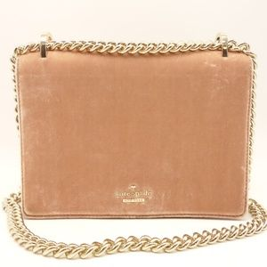 NWT LATE SPADE Crossbody Purse Pink Suede Leather